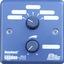 Blu 3 front. tiny square