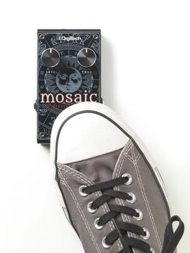 Mosaic with shoe medium