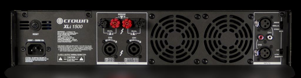xli 1500 crown audio professional power amplifiers. Black Bedroom Furniture Sets. Home Design Ideas