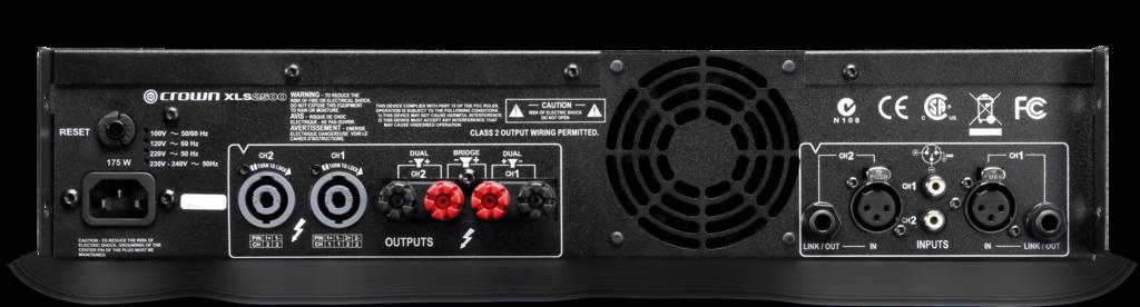 xls 2500 crown audio professional power amplifiers. Black Bedroom Furniture Sets. Home Design Ideas