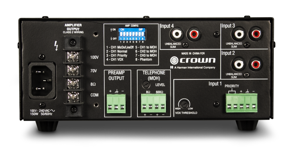 160ma Crown Audio Professional Power Amplifiers
