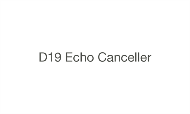 D19 echo canceller 1000 large