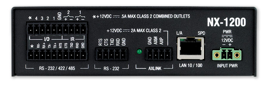 Nx 1200 Amx Audio Video Control Systems