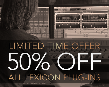Lexicon 2015 Holiday Offer - 50% Off All Plug-ins