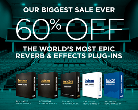 Lexicon 2016 Holiday Offer - 60% Off All Plug-ins