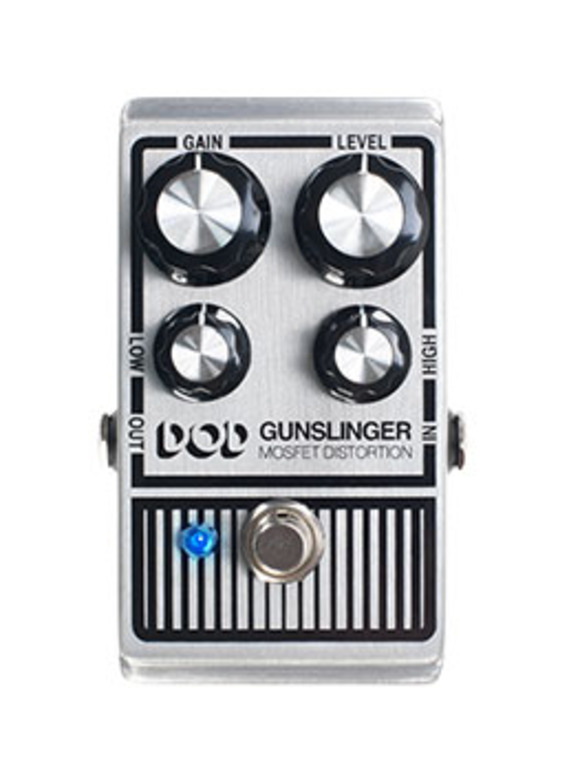 Aim for Great Tone: DOD Introduces the Gunslinger MOSFET Distortion
