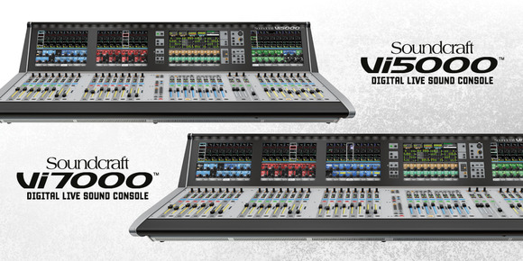 Soundcraft Extends World-Class Vi Series with Vi5000 and Vi7000 Digital Mixing Consoles