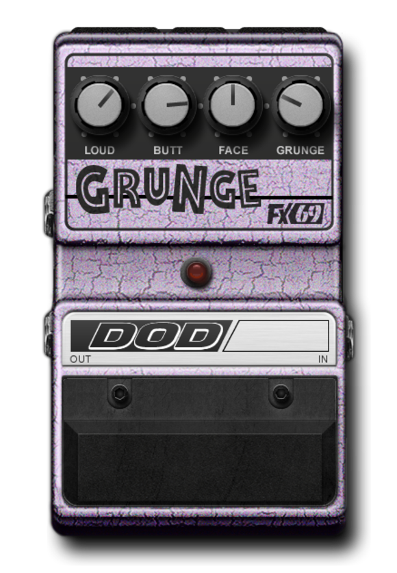 DigiTech Drives Distortion with the new DOD® FX69 Grunge E-Pedal For Its iStomp Downloadable Pedal