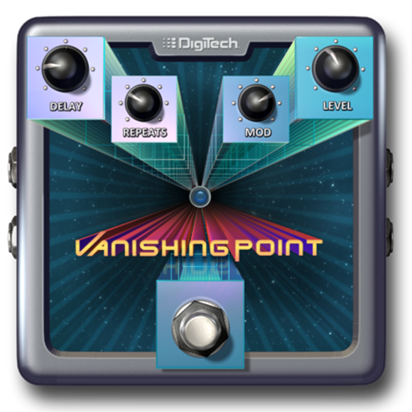 A New Perspective In Digital Delay: HARMAN's DigiTech Introduces the Vanishing Point Modulated Delay e-pedal for the iStomp™ Downloadable Pedal