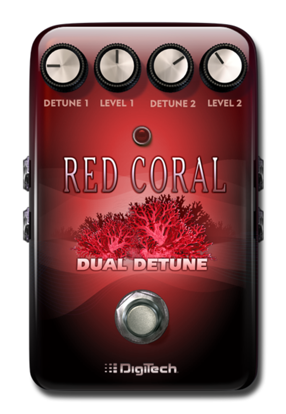 DigiTech Doubles Your Pleasure With the Red Coral Dual Detune E-Pedal for the iStomp