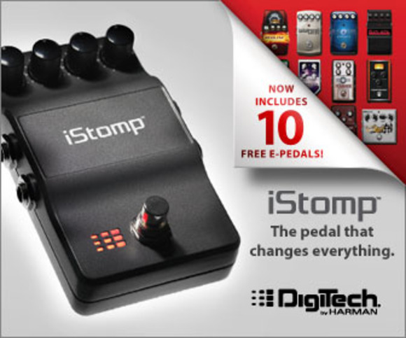 DigiTech Now Shipping iStomp with 10 Downloadable e-pedals and Updated Stomp Shop App