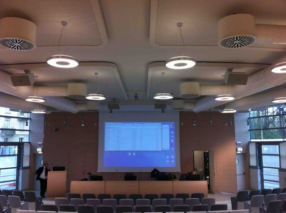 BSS Audio Backbone Networks Multiple Lecture Halls at the University of Torino