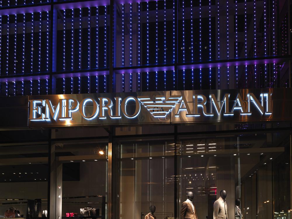 Armani 5th Avenue New York Usa Martin Lighting