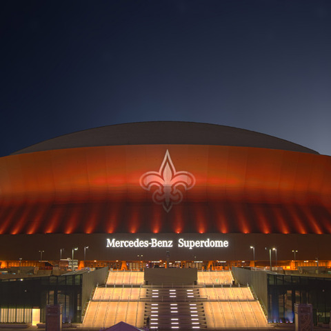 Solomon Group, Martin Professional Light Up the Superdome and New Orleans Skyline