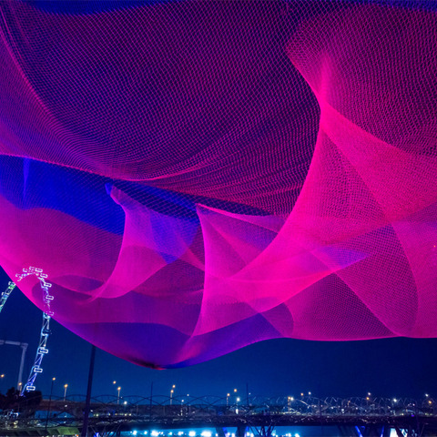 Martin provides energy-efficient LED lighting for i Light art festival