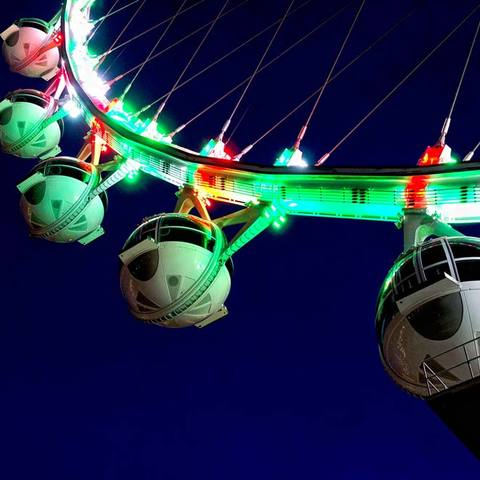 The High Roller - contributing to the creation of an iconic Las Vegas landmark with lighting