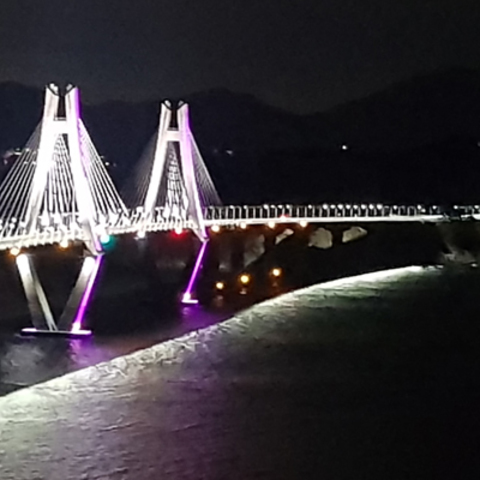 KOINFRA Upgrades Architectural Lighting on Geoga Bridge with Martin by HARMAN Outdoor LED Lighting Solutions