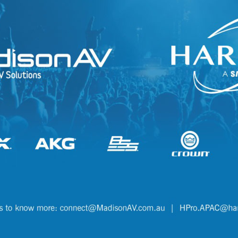 HARMAN Professional Solutions Appoints MadisonAV as Authorized Distributor for AMX and Install Audio Solutions in Australia.