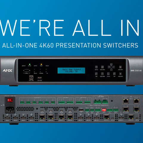 AMX by HARMAN Announces New Enova DVX All-In-One Presentation Switchers With 4K60 4:4:4 Video Support