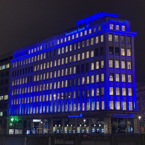 Magic Monkey Brings Deutsche Bank's Brussels Location To Life With Martin by HARMAN Outdoor LED Lighting Fixtures