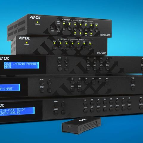 AMX by HARMAN Debuts Powerful, Affordable Family of 4K60 4:4:4 Matrix Switching, Window Processing, and HDMI-TO-USB Capture Products