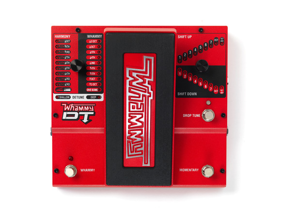 DigiTech® Introduces the Whammy® DT Pedal with drop tuning and true bypass