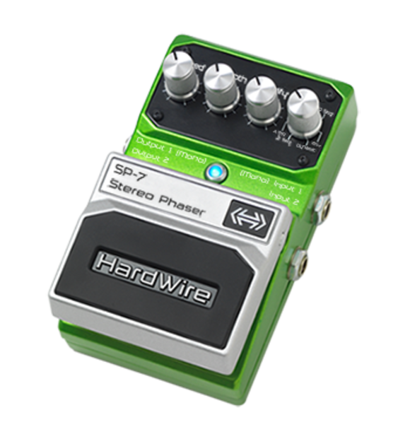 Hardwire® SP-7 Stereo Phaser Effects Pedal for Guitarists Now Shipping