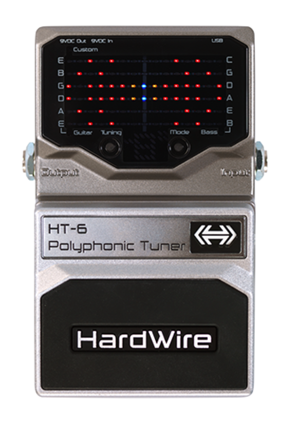Hardwire® Expands Lineup With HT-6 Polyphonic Tuner