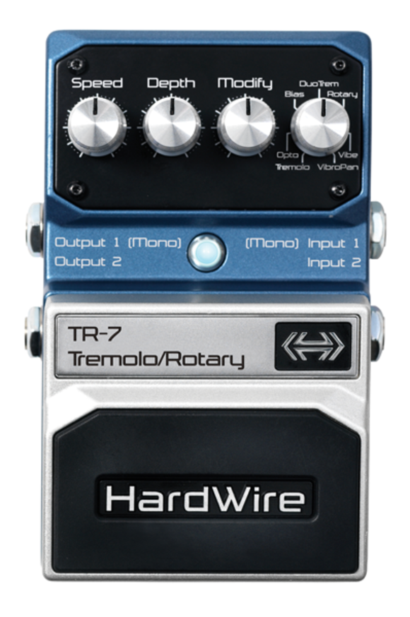 HardWire® TR-7 Tremolo/Rotary Extreme Performance Pedal Now Shipping