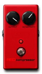 Red compressor on epedal