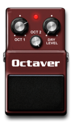 Octaver on epedal