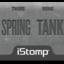 Springtank label tiny square