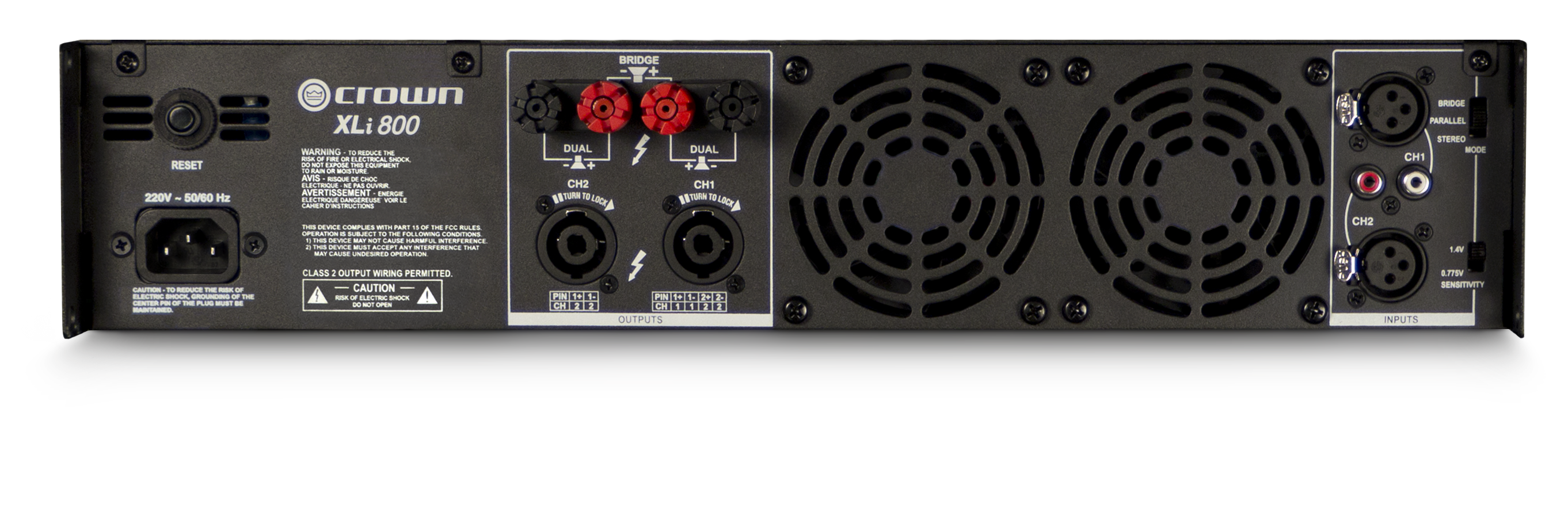 Class A Power Amplifier With 60 Watts Output Xli 800 Crown Audio Professional Amplifiers