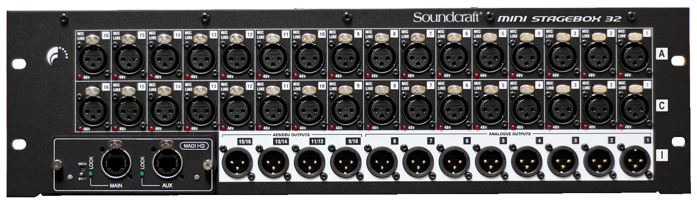 Mini Stagebox 32r 16r Soundcraft Professional Audio Mixers