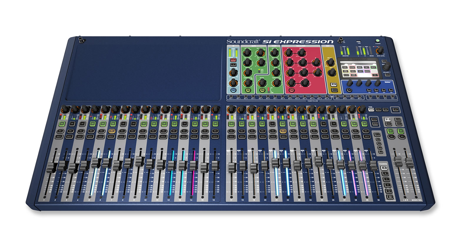 Si Expression 3 Soundcraft Professional Audio Mixers Digital Platform Front Tiny Square
