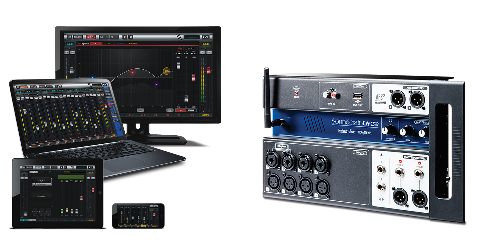 Ui12 | Soundcraft - Professional Audio Mixers