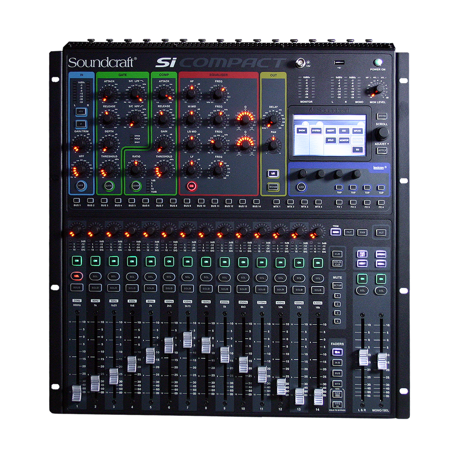 Si Compact 16 Soundcraft Professional Audio Mixers Integrated Electronics Analog And Digital Circuits Systems By Top View Cutout Tiny Square