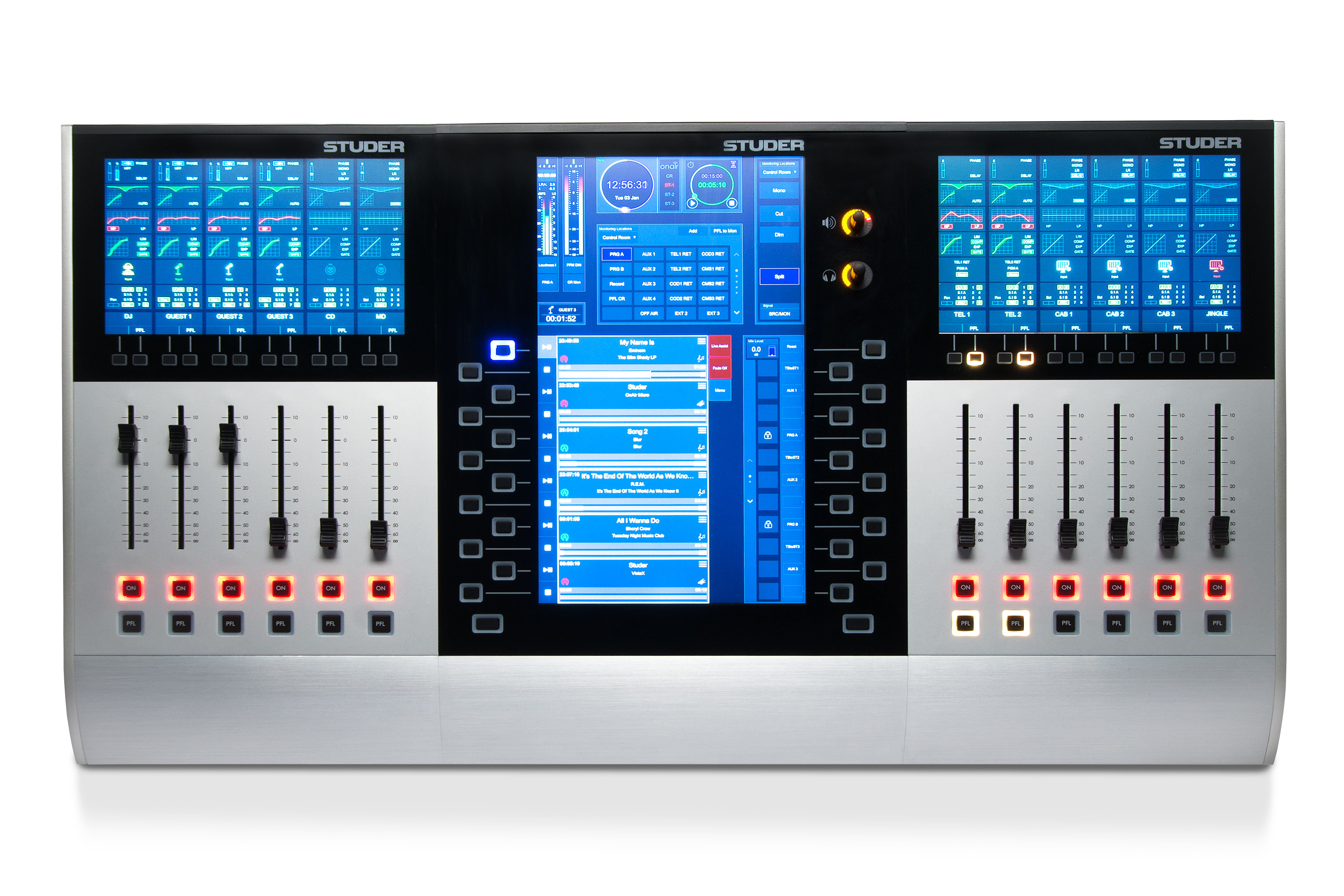 Glacier Series Studer Professional Mixing Consoles Modular Audio Mixer With Multiple Input Channels Productphoto Front Tiny Square