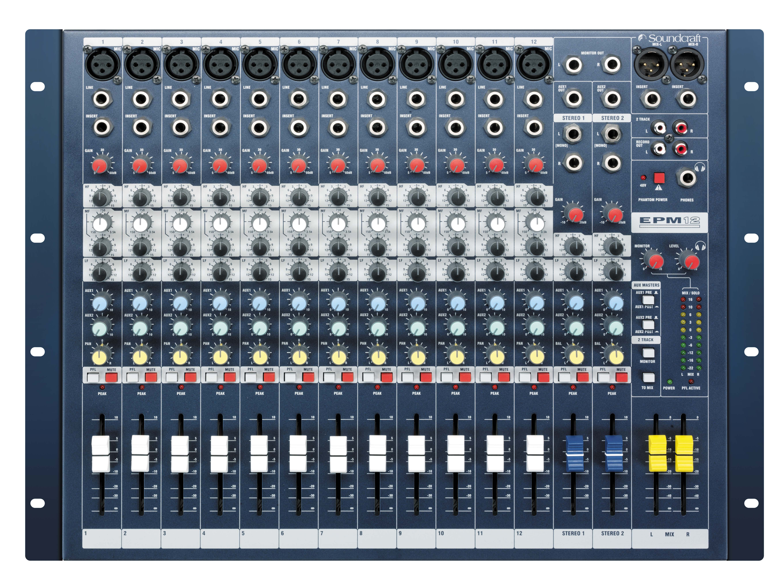 Soundcraft EPM8 8+2 Channel Mixing Console PA Mixer Desk EPM 8 Studio Band Audio
