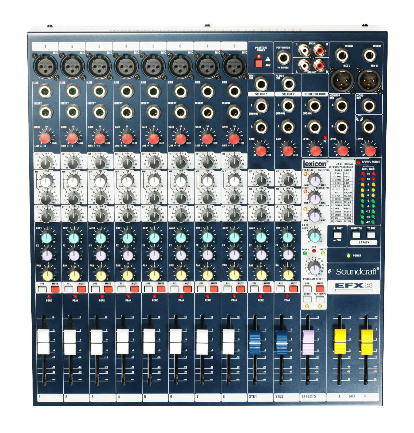 Efx8 Soundcraft Professional Audio Mixers 3 5 Mm Jack Ptt Microphone Wiring Low Cost High Performance Lexicon Effects