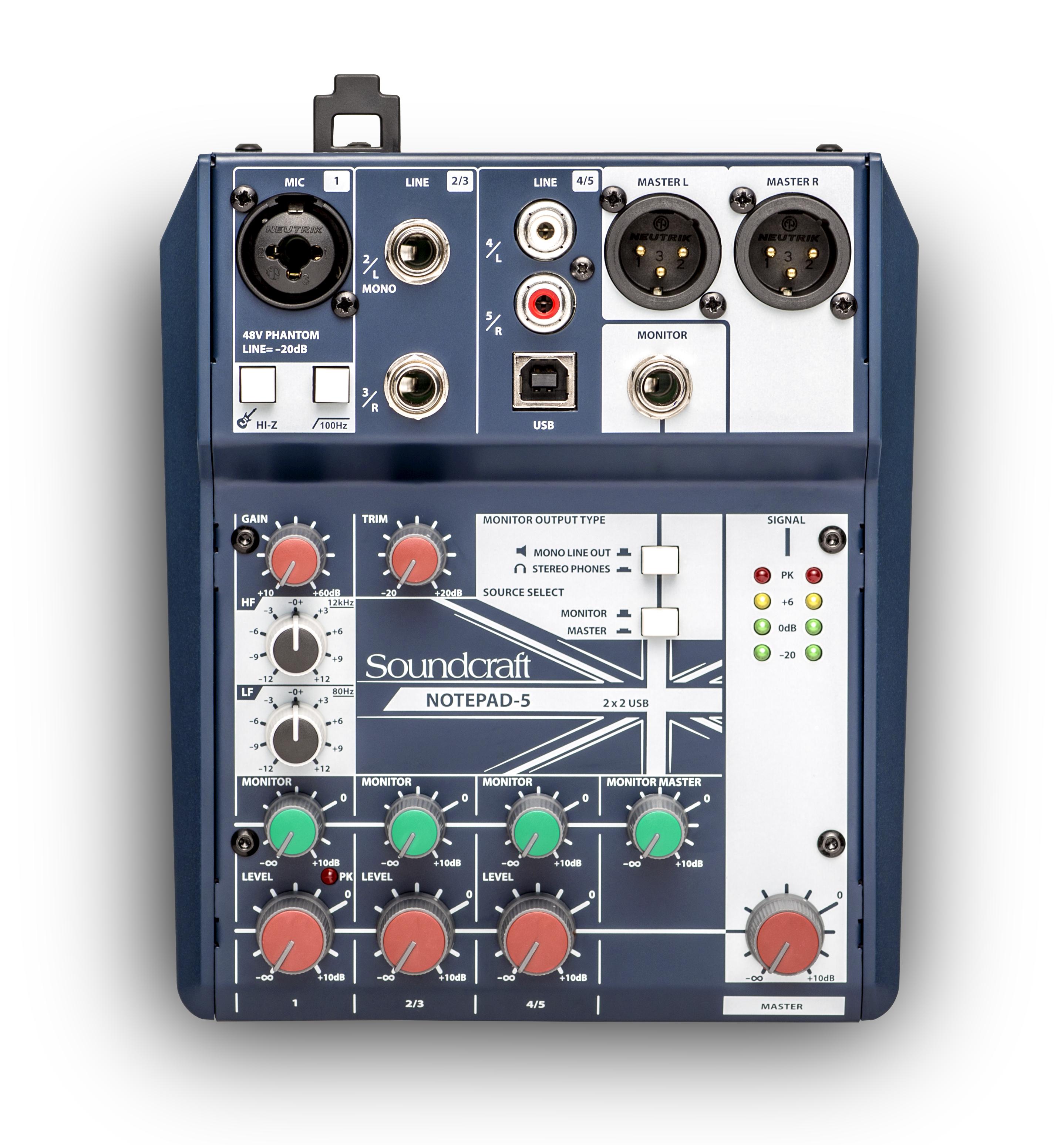 Notepad 5 Soundcraft Professional Audio Mixers Np Sensor Tester Wiring Diagram Larger Images