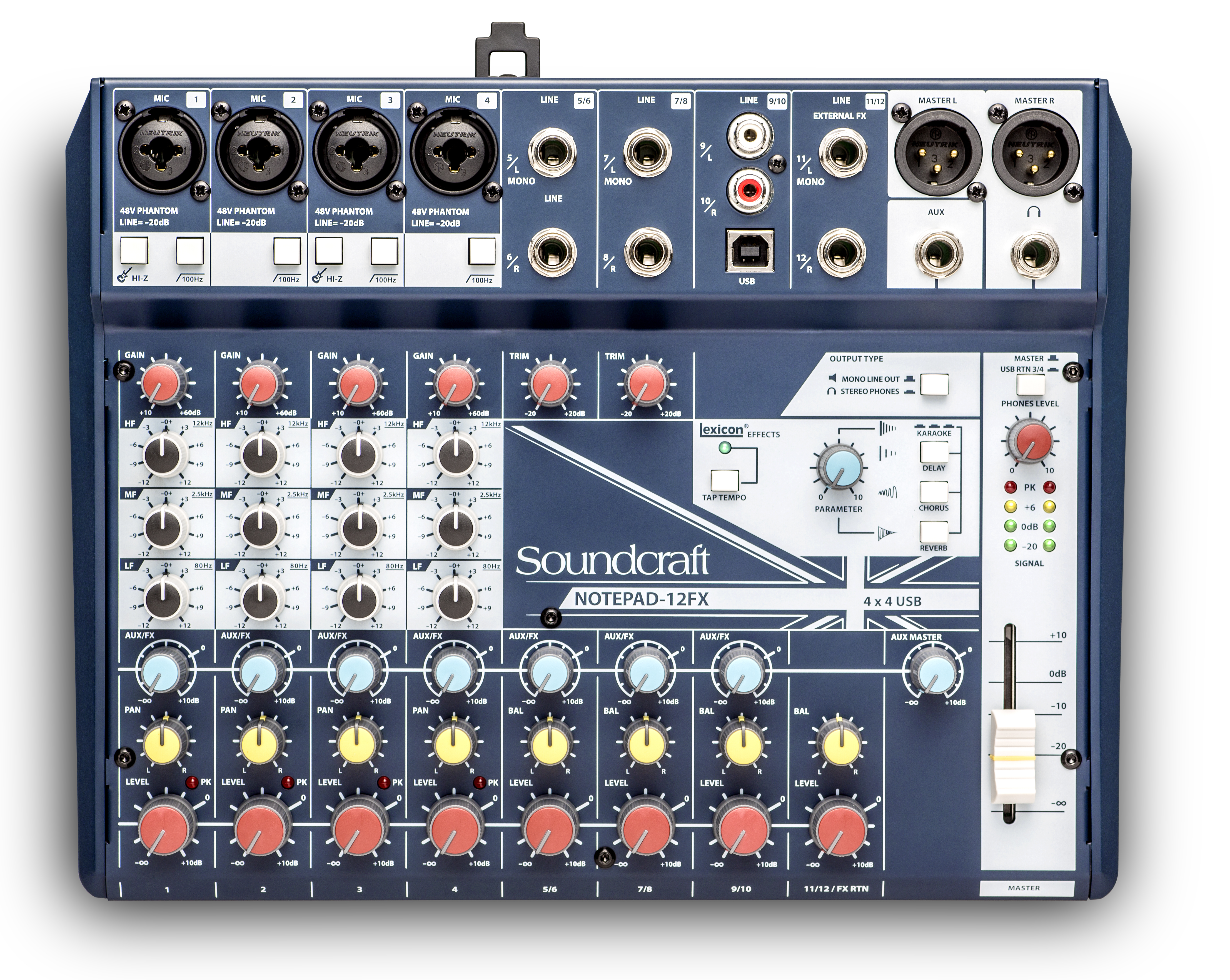 Notepad 12fx Soundcraft Professional Audio Mixers Block Diagram Of Craft Electronics Np 01 Tiny Square