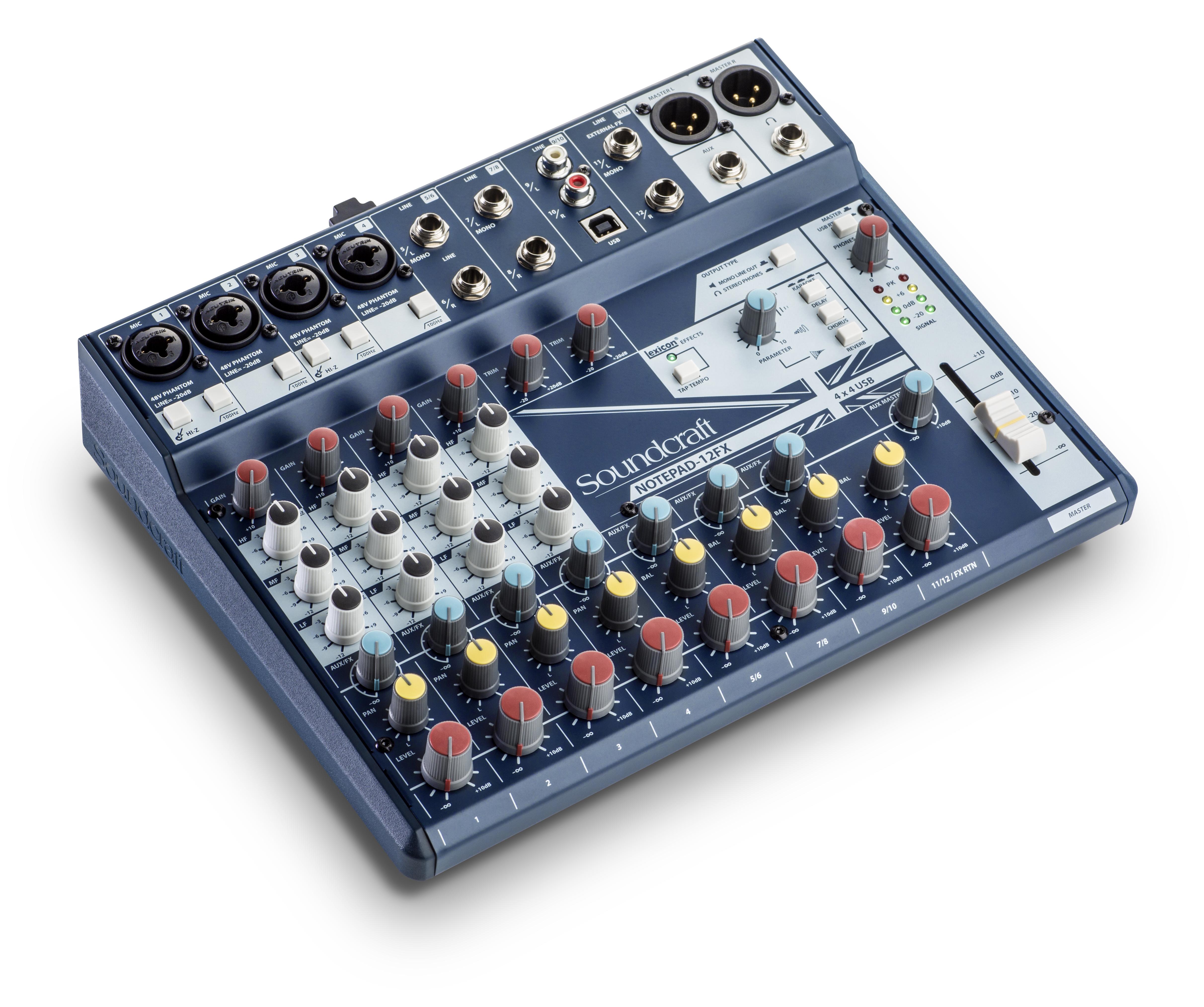 notepad 12fx soundcraft professional audio mixers. Black Bedroom Furniture Sets. Home Design Ideas
