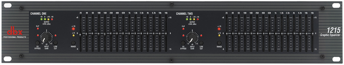 dbx 1215 Dual-Channel 15-Band Graphic Equalizer