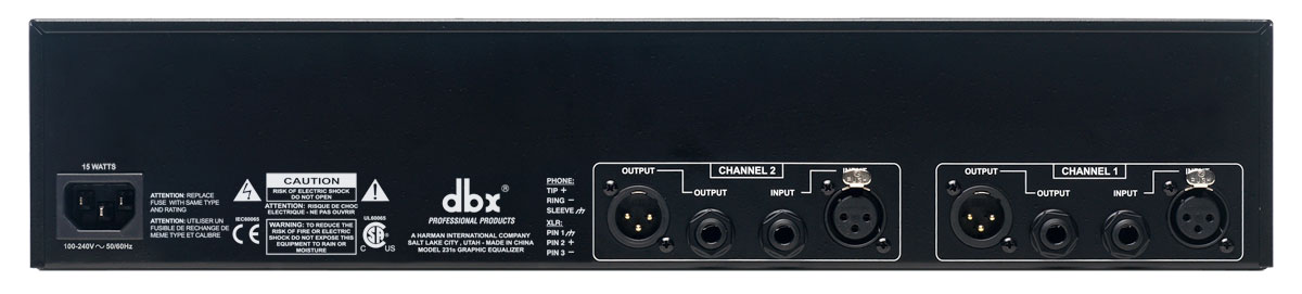 2-Space New dbx PRO 231s Dual Channel 31-Band Graphic Equalizer 2U