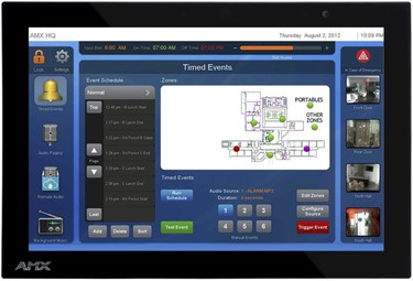 SchoolView Bell & PA | AMX Audio Video Control Systems