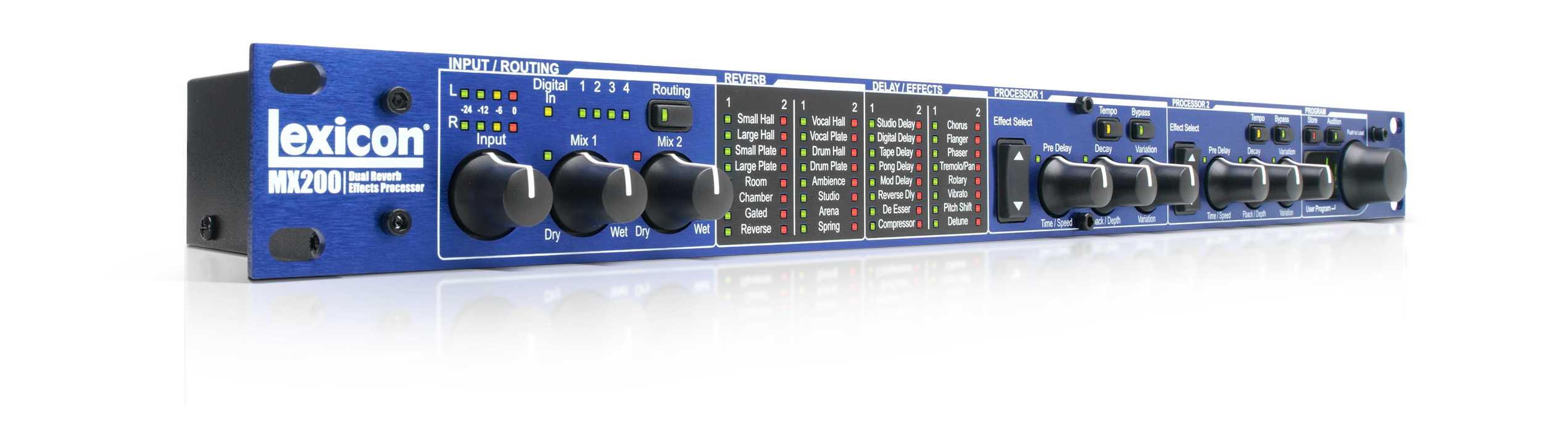 Mx200 lexicon pro legendary reverb and effects  stereo reverb effects processor with usb \