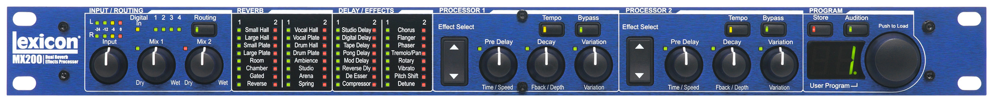 mx200 lexicon pro legendary reverb and effects rh lexiconpro com Lexicon MX200 Demo review lexicon mx200