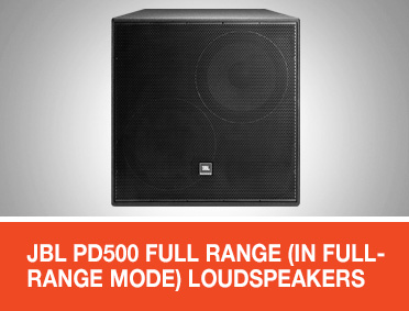 JBL PD500 Full Range (in full-range mode) Loudspeakers for EN 54 Applications