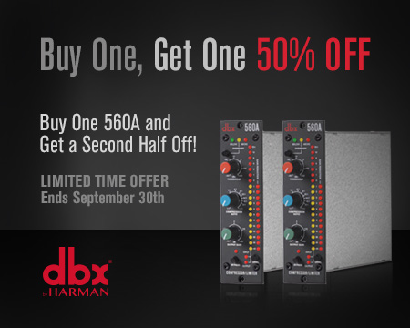 dbx 560A Buy One, Get One 50% Off